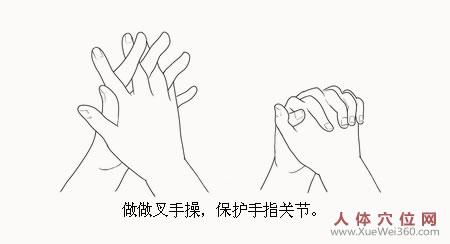 """手指关节炎,常做""""叉手操"""""""