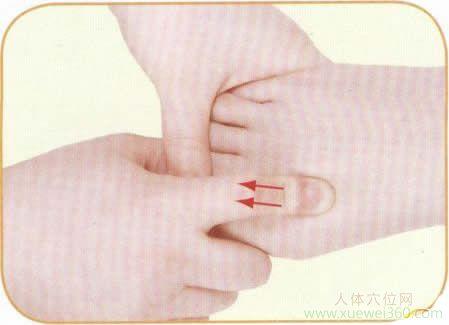 单食指勾掌法