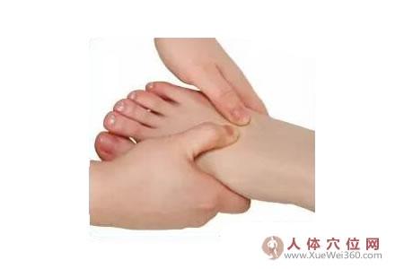 脚底穴位图(足内侧反射区)--肩胛骨按摩