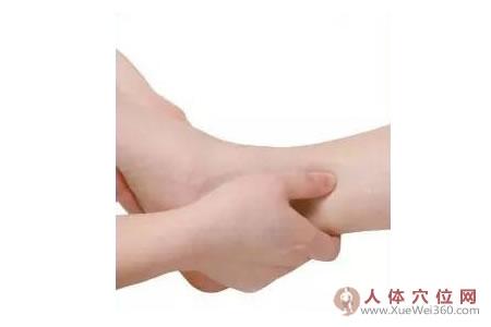 足内侧反射区–坐骨神经按摩手法