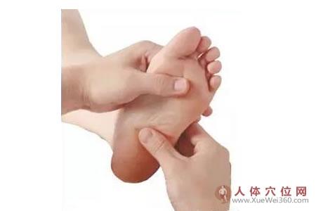 足内侧反射区–骶骨按摩手法