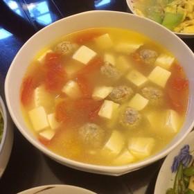 白薯豆腐番茄汤
