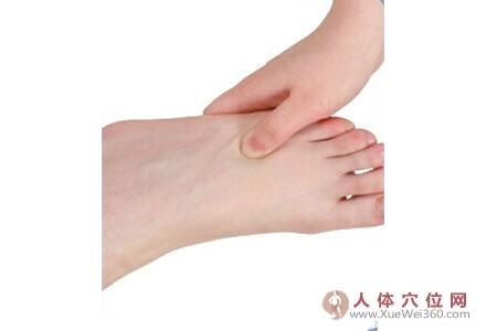脚底穴位图(足内侧反射区)--内耳迷路按摩