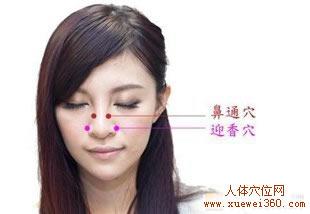 鼻通穴在哪 鼻通穴位置图