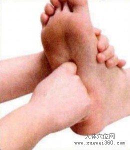 脚底穴位图(脚底反射区)--肾脏按摩