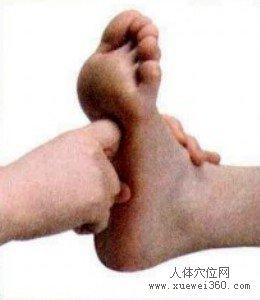 脚底穴位图(脚底反射区)--心按摩