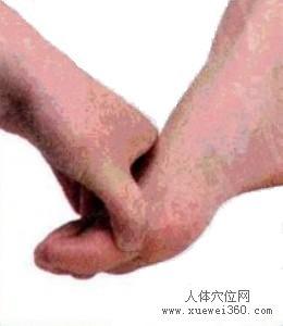 脚底穴位图(脚底反射区)--颈椎按摩